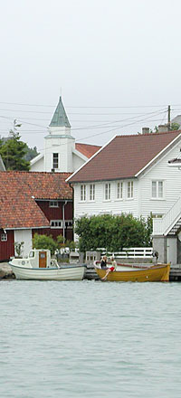 Korshamn near Kristiansand - lots of places to visit by boat