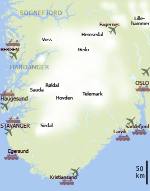Maps Of Norway And The Regions NorwayTravel - Norway map cities